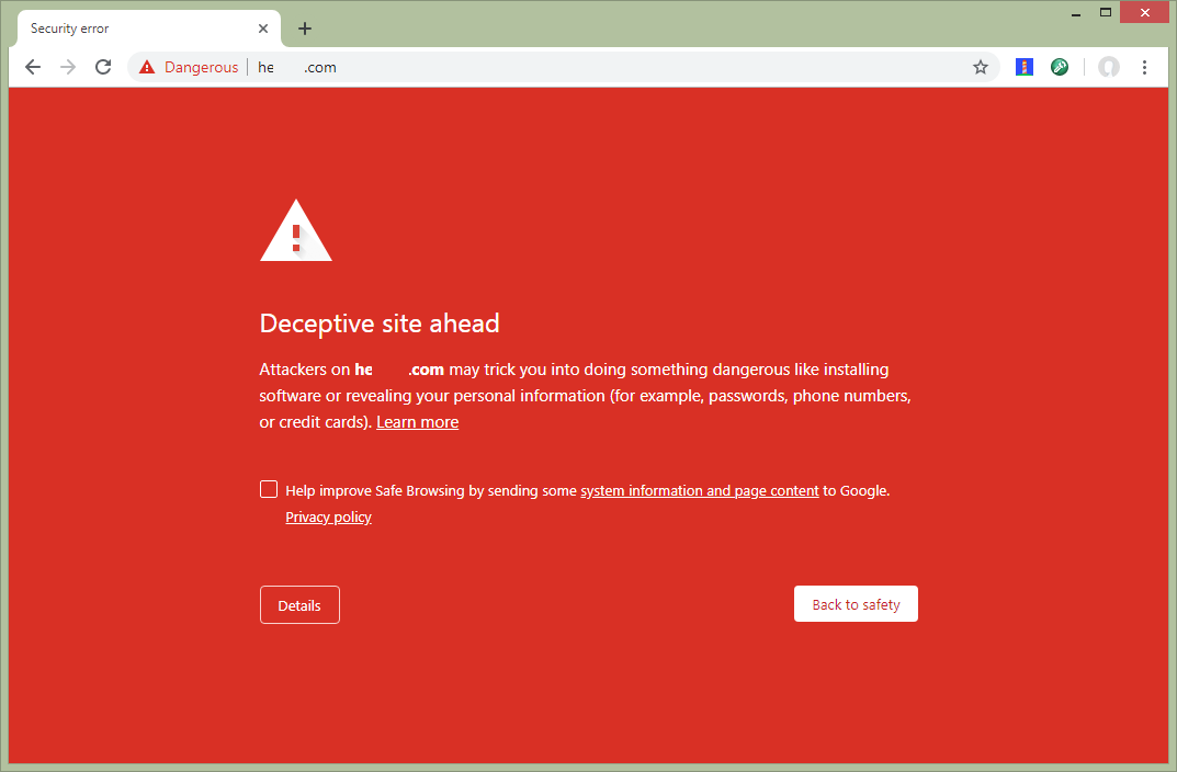 Visitors Blocked by Google Safe Browsing